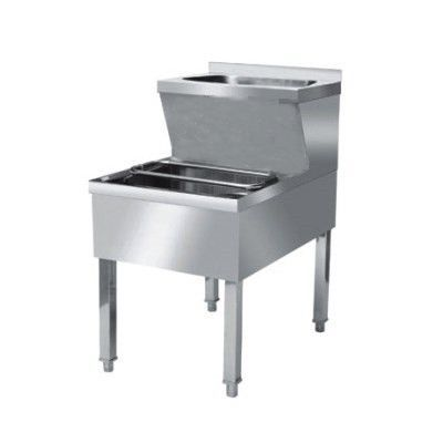 Empire Stainless Steel Janitorial Double Bowl Sink