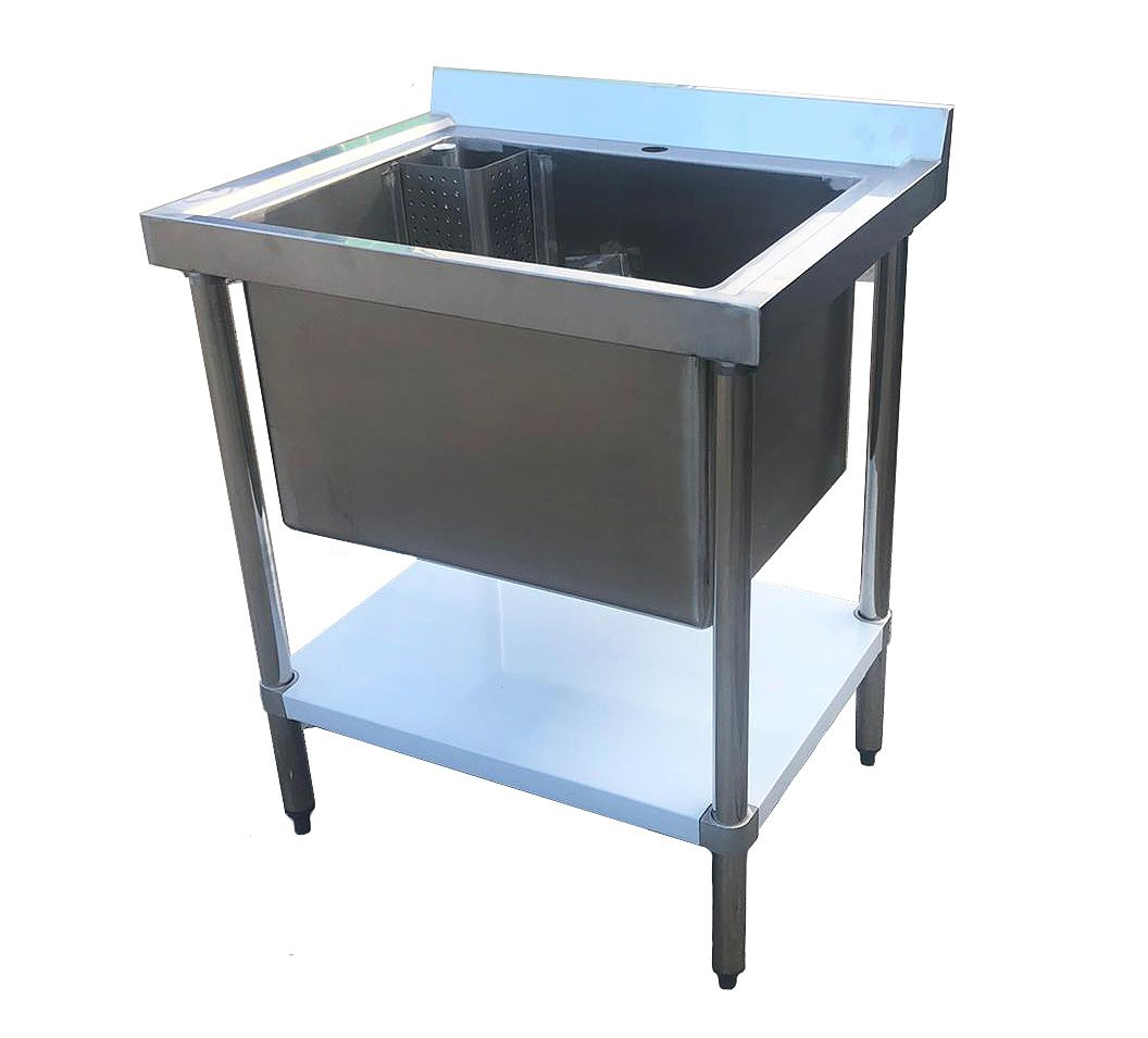 Empire Stainless Steel Midi Pot Wash Sink with Undershelf - PW-750-CB-1