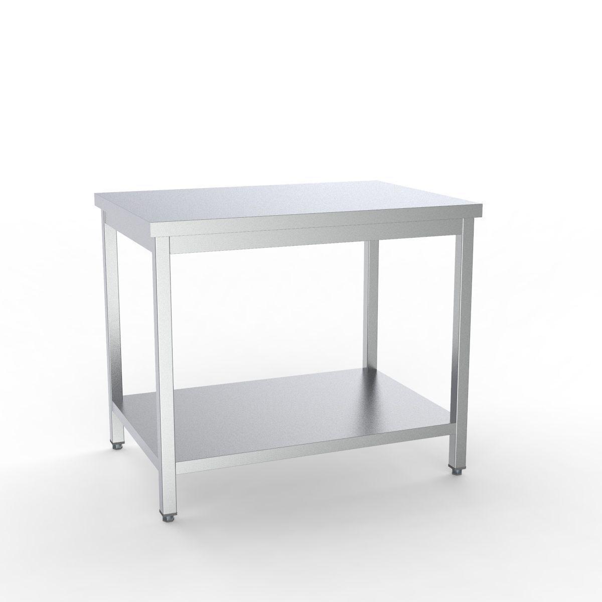 Combisteel Full 430 Stainless Steel 600 Line Worktable With Shelf  - 7333.0075