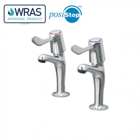 Mechline CaterTap 1/2 Inch Sink Taps With 3 Inch Levers - WRCT-500SL3