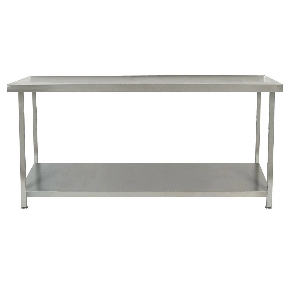 Parry Fully Welded Stainless Steel Centre Table with Undershelf 1500x600mm - DC595