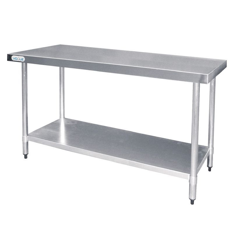 Vogue Stainless Steel Prep Table 1200mm - T376