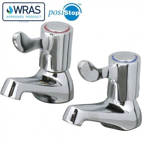 Mechline CaterTap 1/2-inch Deck mounted Basin Taps With 3 Inch Levers - WRCT-500BL3